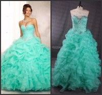 Best Selling 2015 Mint Blue Ball Gown Quinceanera Dresses ...