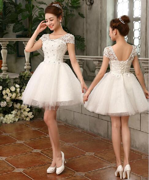 Lc466m baratos partido corto elegante modesto vestido de fiesta moda