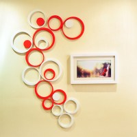 7 Colors 3D Circle Round Room Wood Wooden Wall Sticker ...