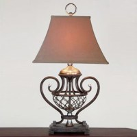American-wrought-iron-living-room-lamps-rustic-antique ...
