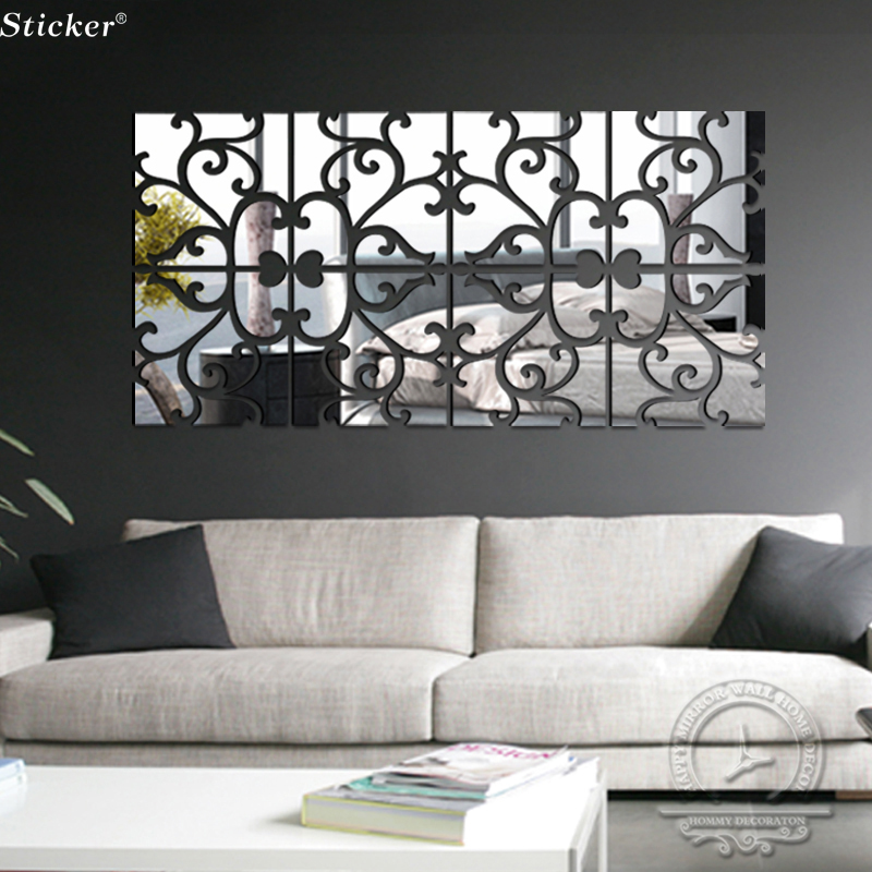 diy lot set home decoration acrylic mirror wall stickers modern wall decoration sticker wall decals wall stickers buy wall stickers