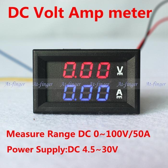 2019 YB27VA DC 0 100V/50A Digital Ammeter Voltmeter 2 In 1 Digital