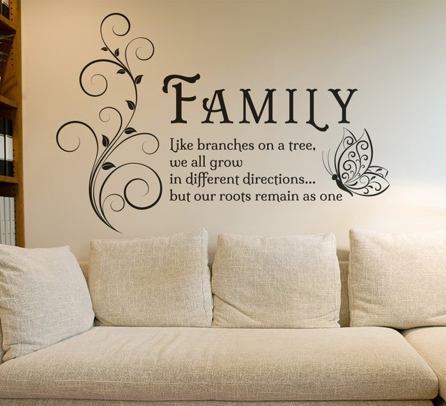 Wall art decals family quotes family painted on wall