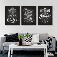 Black White Vintage Retro Typography Summer Quotes A4 ...