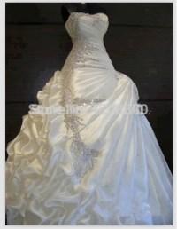 Best Selling 2015 Wedding Dresses with Rhinestones Slight ...