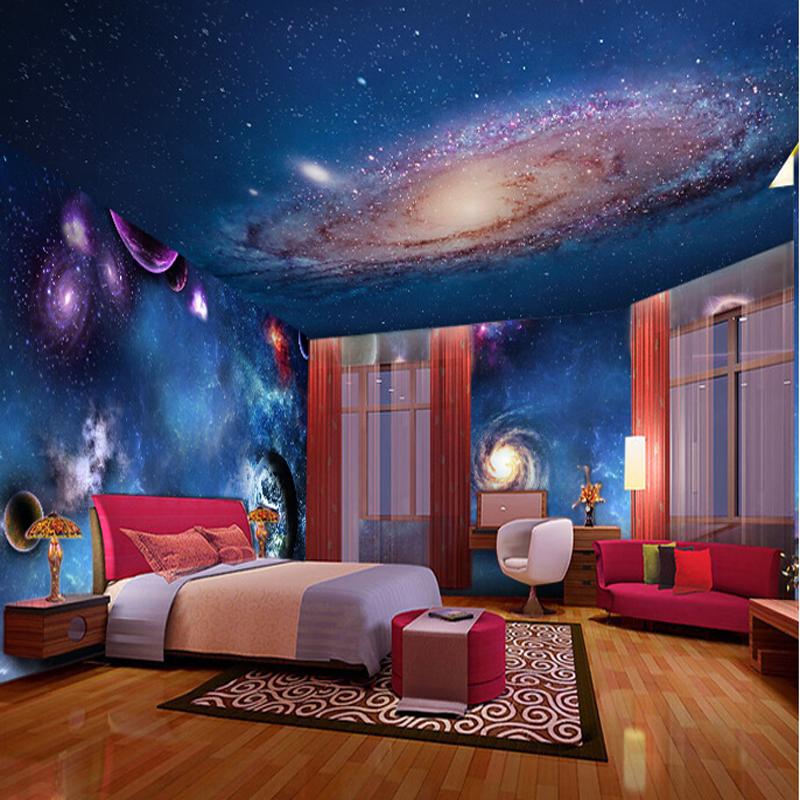 3d Stereoscopic Mural Wallpaper Wallpaper 3d Stereoscopic Star Nebula Night Sky Ceiling