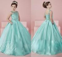 White Evening Dresses For Little Girls - Boutique Prom Dresses