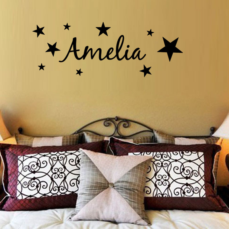customized girls bedroom wall stickers home decor diy stars custom wall stickers wall art quotes designs gemma duffy
