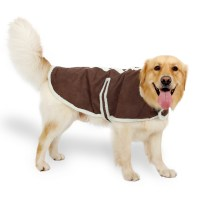 Large Dog Clothes Suede Fabric Dog Clothes Winter Warm ...