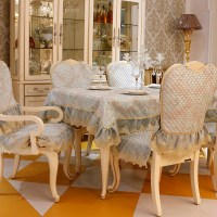 Top grade fashion dining table cloth chair covers cushion ...