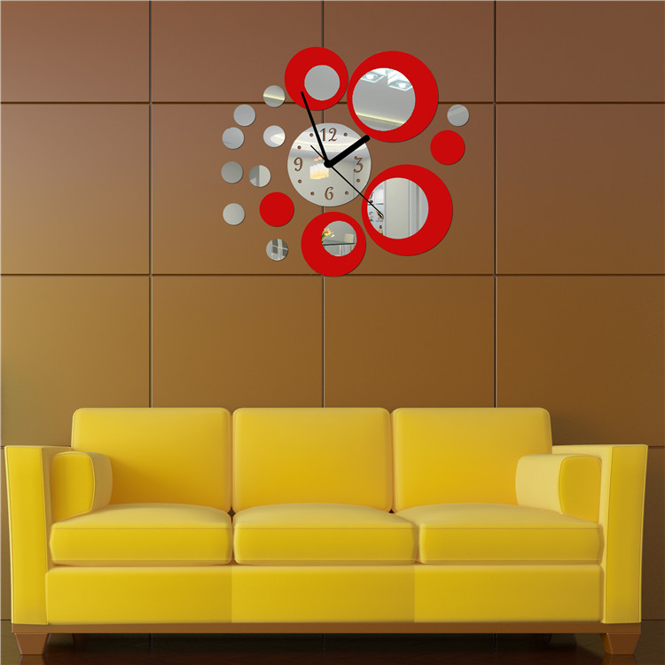 hot hot acrylic clock design mirror effect mural wall sticker home hot wheels wall stickers hot wheel decals peel stick pictures