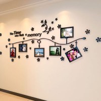 Photo Frame and Flower Design Acrylic 3D Wall Stickers DIY ...