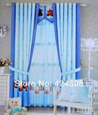 Little boy cartoon car bedroom curtains window screening ...