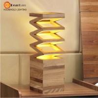 Wood Read Table Lamp Vintage Solid Wood Lamp Study Living ...