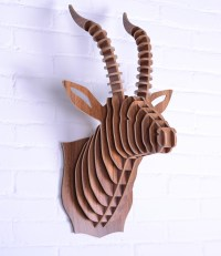 Goat head,wooden wall art,craft diy wood,novelty item,wood ...