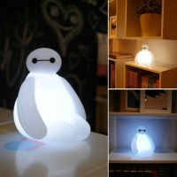 Big Hero 6 Cartoon BayMax LED Night Light White Cute Table ...