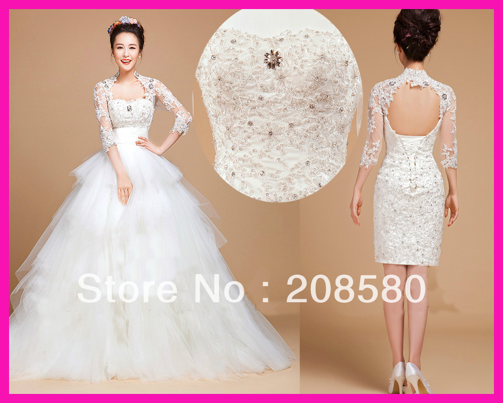 detachable wedding dresses a line halter deep v neck appliques beaded lace up sleeveless organza bridal gowns lt78 detachable wedding dress Detachable Wedding Dresses A Line Halter Deep V Neck Appliques Beaded Lace Up Sleeveless Organza
