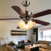 LED ceiling fan with lights 100 240v Romantic ceiling fan