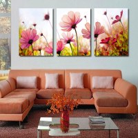 Modern abstract palette knife poppies flower oil painting ...