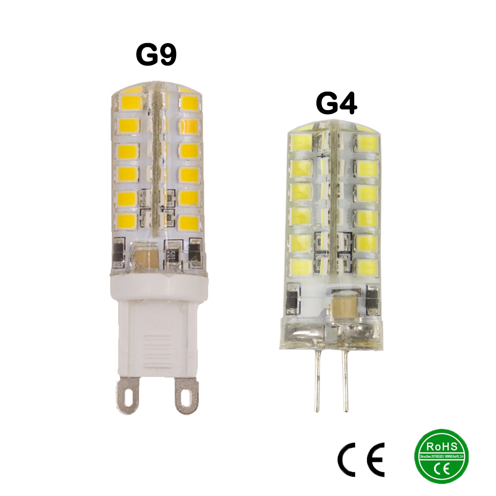 Led 220v G9 G4 Led Lamp 220v 230v240v 9w 2835smd 48smd Led Bulb Light 360 Beam Angle Led Spot Light Warranty Free Shipping
