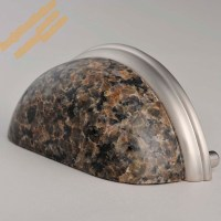 76mm Tropical Brown Granite Drawer Pull,Stone Kitchen