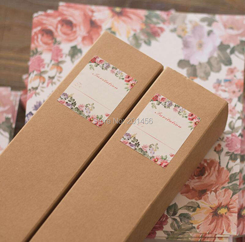 Wholesale Free Personalized  Customised Printing Kraft Paper Box - scroll wedding invite