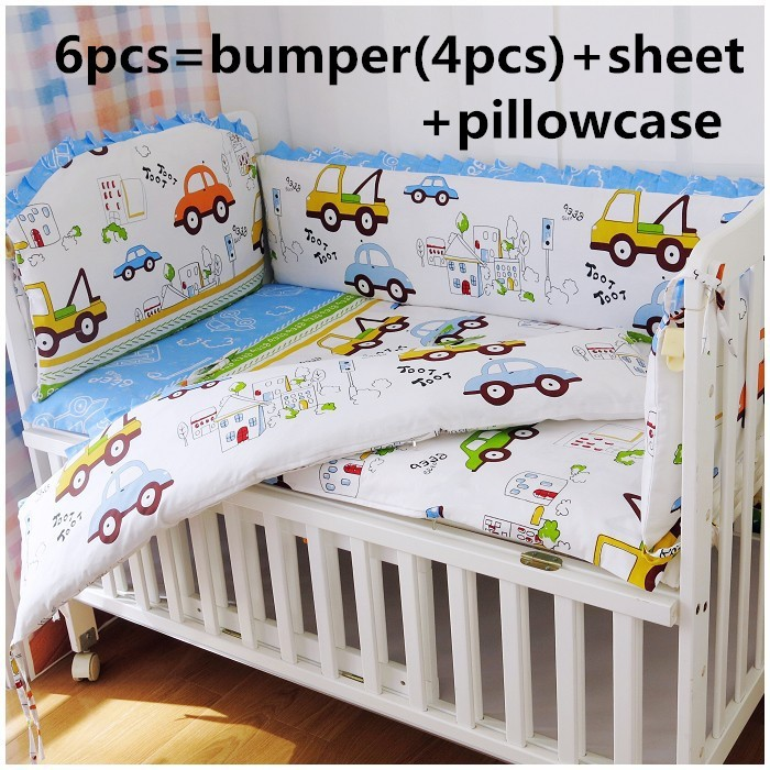 Discount 6pcs Kids Bedding Sets Baby Crib Bed Clothes
