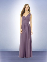 One Shoulder 2016 A Line Coral Long Bridesmaid Dresses