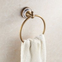 Bathroom towel holder Wall Mounted Bathroom Towel Ring ...