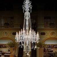 large candle chandelier Big chandelier luxury crystal ...