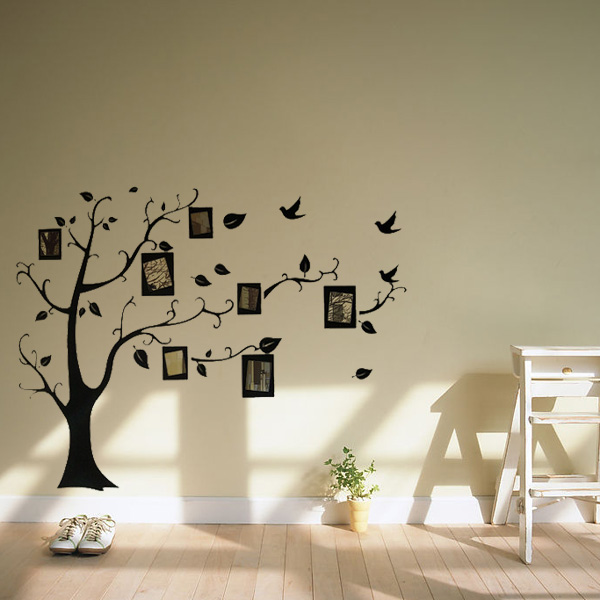 decal wall stickers photo frame tree family picture vinyl wall sticker sweet home love photo frame wall sticker wallstickerdeal