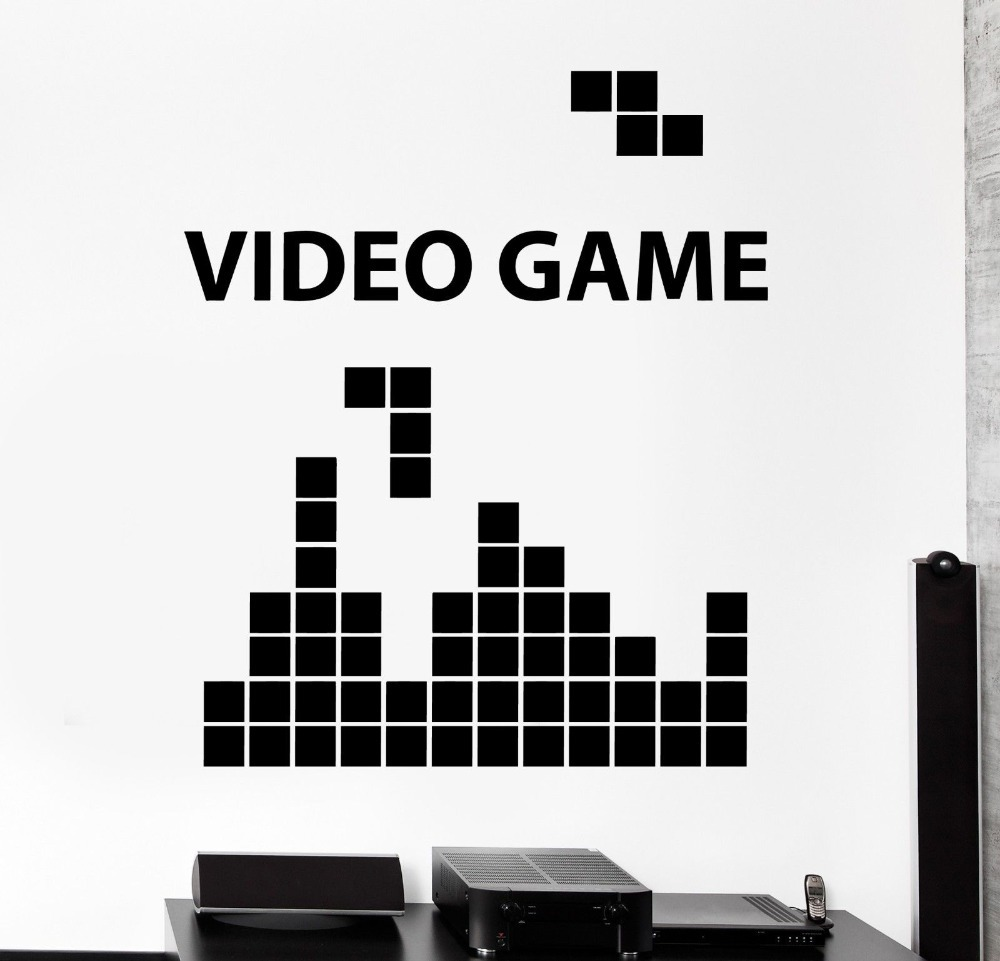 gaming video game computer gameplay home decor wall sticker vinyl buy cheap video game stickers lots intended video game wall decals