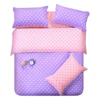 Popular Purple Polka Dot Bedding