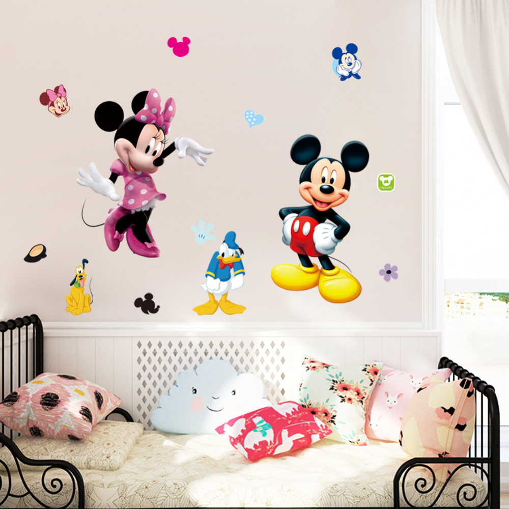 cartoon mouse wall stickers home decor kindergarten classroom wall wall sticker cartoon cartoon character wall sticker