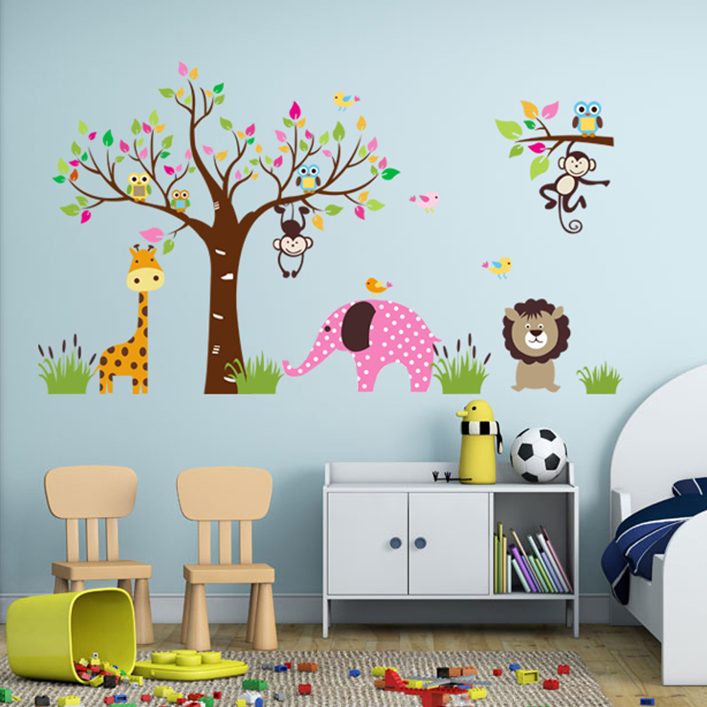 sale waterproof pvc wall sticker forest animals friendly wall stickers sale wall sticker commercial window wall stickers christmas