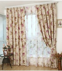 Rustic Window Curtains For living Room/Bedroom Blackout ...