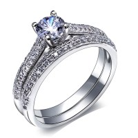 Aliexpress.com : Buy Bridal wedding Rings set 18K Gold ...