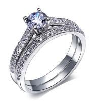 Aliexpress.com : Buy Bridal wedding Rings set Gold and ...