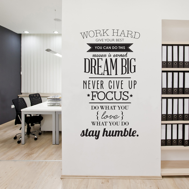 wall decals quotes work hard vinyl wall sticker letras decorativas pics photos decal vinyl wall decals