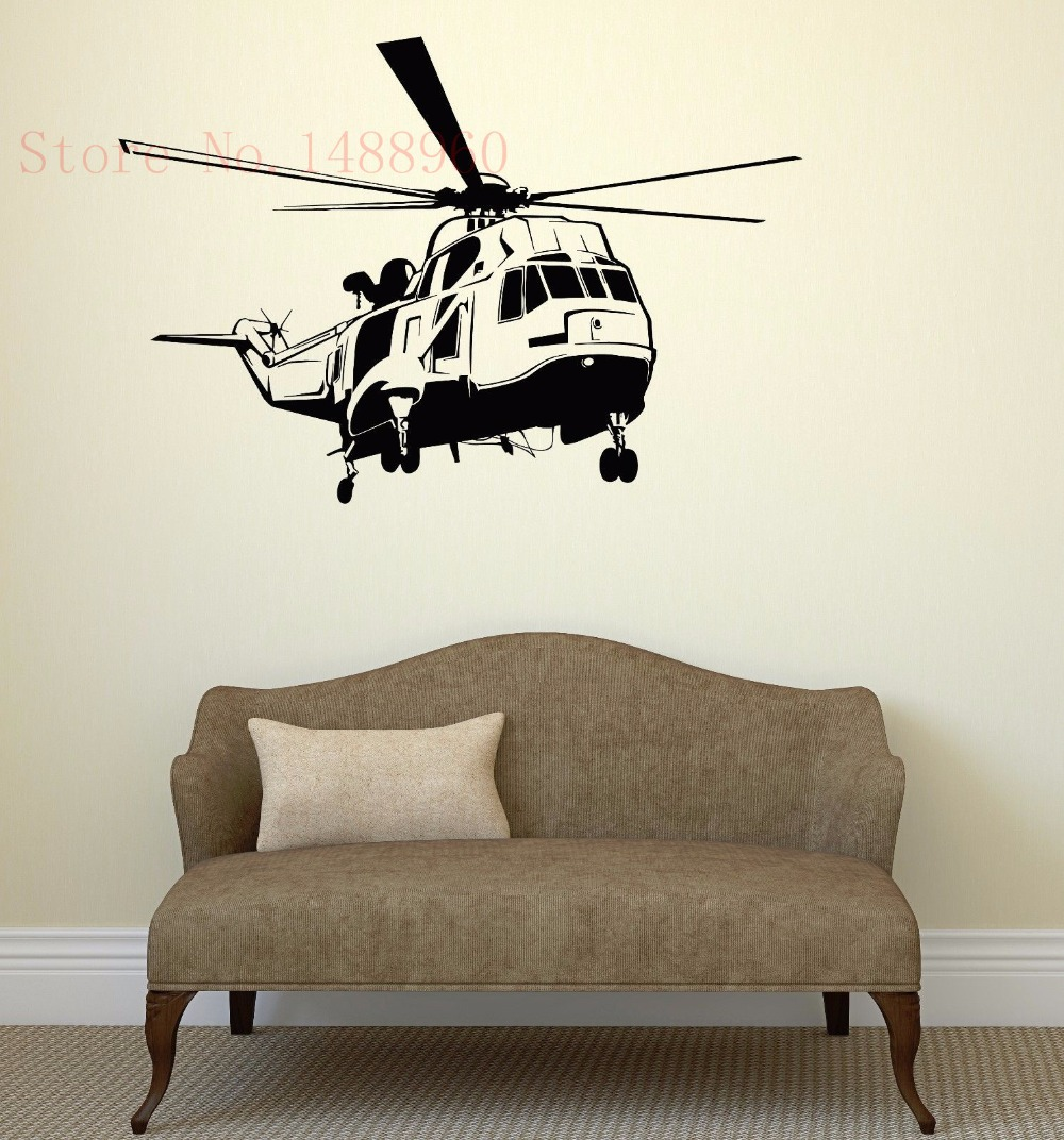 vinyl wall sticker home decor wall decals wall mural helicopter home sweet home wall sticker decals