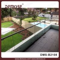 tempered glass deck railing/exterior glass railings ...