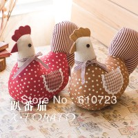 whole sales,american rustic fabric decoration home hen