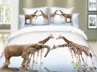 3D Giraffe elephant print bedding comforter set sets queen ...