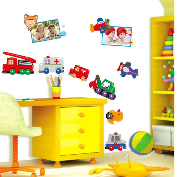 removable children bedroom wallpaper wall decals wall stickers cute animal wall sticker children bedroom