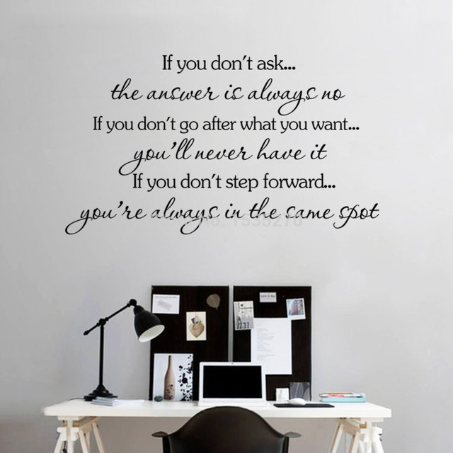 inspirational quotes wall stickers removable decal home decor hope inspirational wall stickers quotes art decals