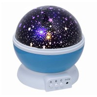 Novelty 360 Rotating Round Night Light Projector Lamp Star ...