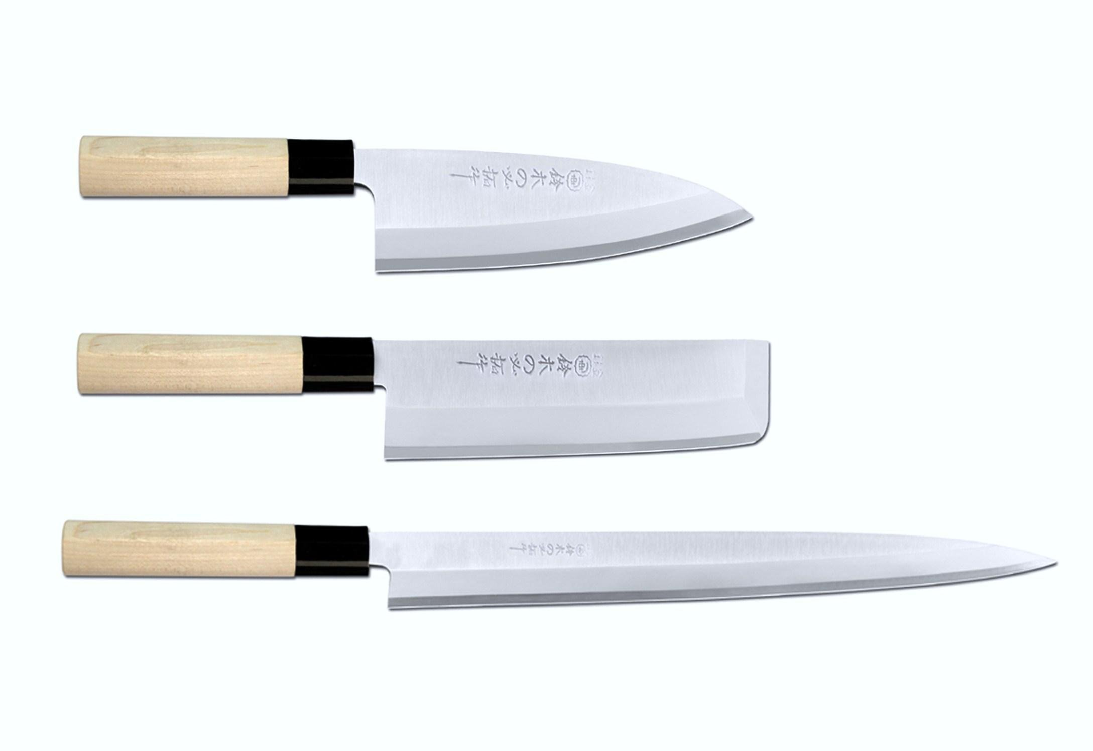 Chopping Knife Set Popular Exproted Items And Free Shipping 3pcs Japanese