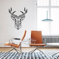 Geometric Deer Wall Sticker Modern Geometric Deer Wall ...