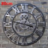 Oversized Vintage Wall Clock 3d Gear Wall Clocks Wooden ...