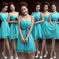 Teal Bridesmaid Dresses Chiffon Turquoise Blue Dress For ...